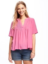 Old Navy Pintuck Swing Top for Women