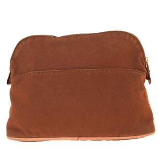 Hermes Brown Cotton Travel bags