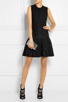 Roberto Cavalli Metallic stretch-knit jacquard mini dress