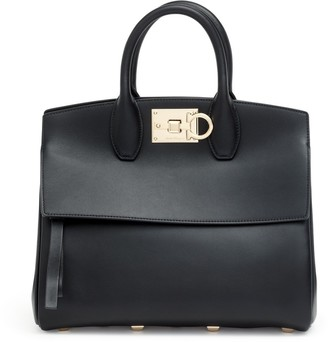 Salvatore Ferragamo The Studio M black leather bag
