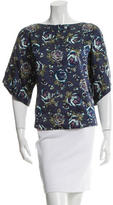 Suno Silk Floral Print Top