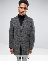 ONLY & SONS Overcoat In Salt and Pepper