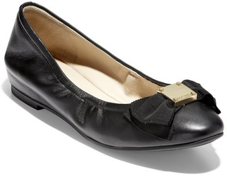 Cole Haan Tali Soft Bow Leather Ballerina Flat
