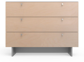 "Spot On Square Roh 45"" Dresser, White/Birch"