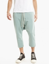 Rick Owens Drkshdw Mint Cotton-jersey Cropped Trousers