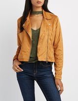Charlotte Russe Faux Suede Moto Jacket