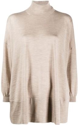 Agnona Roll-Neck Oversized Sweater