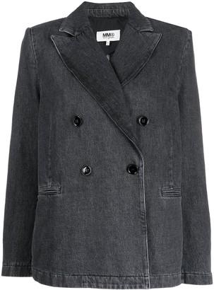 MM6 MAISON MARGIELA Double-Breasted Denim Jacket