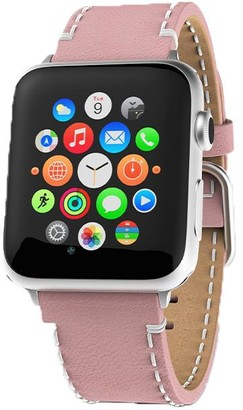 Victoria Emerson Pink Leather Apple Watch Band