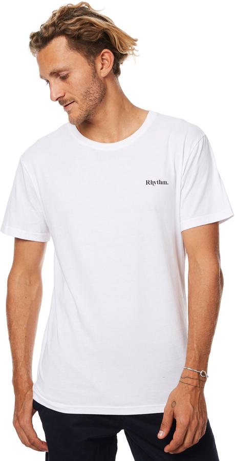 rhythm Flag Mens T Shirt White
