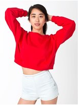 American Apparel 5336 Women's Fleece Cropped Sweatshirt