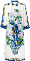 Dolce & Gabbana bouquet print button up dress - women - Silk - 42