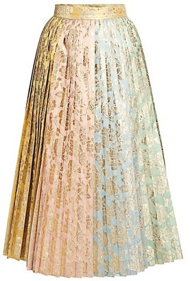 Dolce & Gabbana Multi Jacquard Pleated Skirt