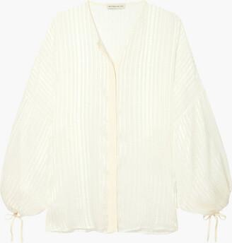 Etro Checked Silk-jacquard Blouse