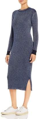Scotch & Soda Metallic-Knit Midi Dress