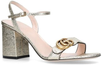 Gucci Metallic Marmont Sandals 75