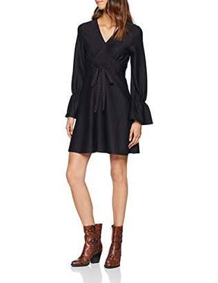 Lost Ink Women's Pinstripe Fit & Flare Dress Dress