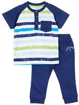 Petit Lem Baby Boys Boys Two-Piece Striped Tee and Pants Set