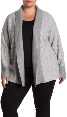 Magaschoni M Colorblock Shawl Collar Cashmere Cardigan (Plus Size)