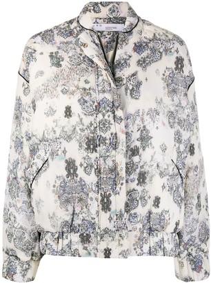 IRO Floral-Print Puffer Jacket