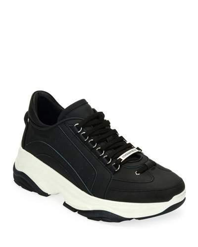 DSQUARED2 Men's High-Sole Nubuck Leather Sneakers