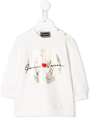 Versace Metallic Logo Dress
