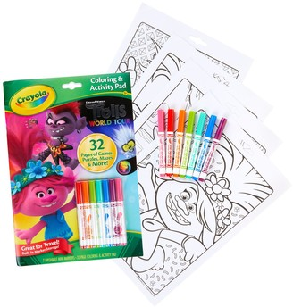 Crayola DreamWorks Trolls World Tour Coloring & Activity Pad with Markers