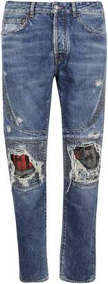 Marcelo Burlon County of Milan Distressed Detail Jeans