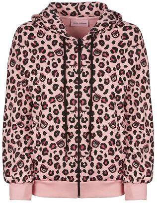 Chiara Ferragni Leopard Print Hooded Jacket
