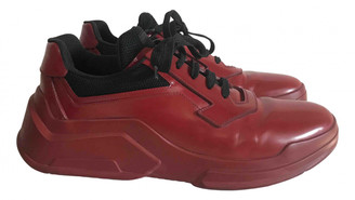 Prada Red Leather Trainers