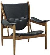 LexMod Finn Juhl Style Chieftains Chair, Leather