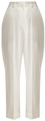 Racil Starman Side-stripe Crepe Trousers - Womens - Ivory