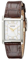 """Citizen Women's EP5914-07A """"Eco-Drive"""" Stainless Steel Watch with Brown Genuine Leather Band"""