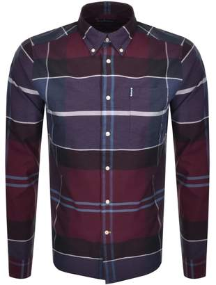 Barbour Long Sleeved Cannich Check Shirt Red