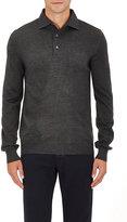 Barneys New York Men's Wool Polo Sweater-DARK GREY