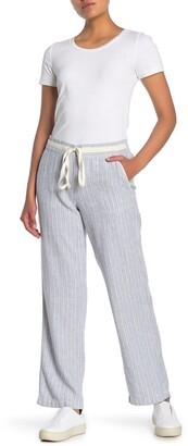Caslon Yarn Dye Striped Linen Blend Pants