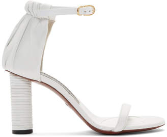 Proenza Schouler White Leather Heeled Sandals