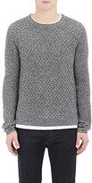 Barneys New York MEN'S MIXED-KNIT SWEATER