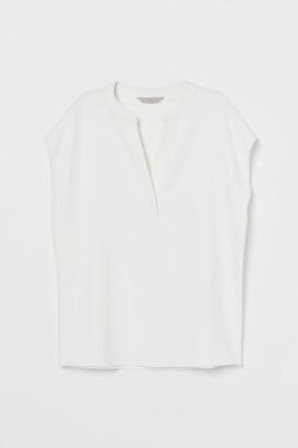 H&M V-neck Blouse - White