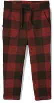 Gap Buffalo plaid fleece pants