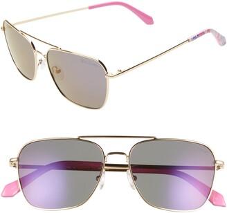 Lilly Pulitzer Kate 55mm Aviator Sunglasses