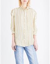 Sandro Striped crepe shirt