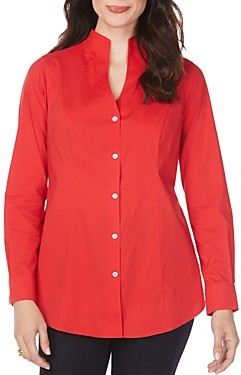 Foxcroft Selma Non-Iron Stand-Collar Shirt