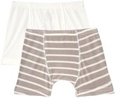 Kickee Pants Boxer Briefs (Toddler/Kid) - Feather/Stripe/Natural - 2T-3T