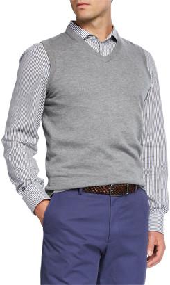 Neiman Marcus Men's Cashmere Pullover Sweater Vest