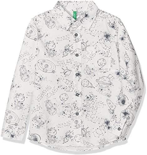 Benetton Boy's Shirt Long Sleeve Blouse,(Manufacturer Size: 1Y)