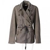 Ann Demeulemeester Grey Leather Jacket for Women Vintage