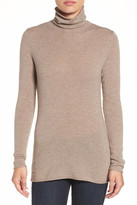 Halogen Wool & Cashmere Funnel Neck Sweater