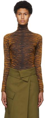 Kenzo Khaki Tiger Printed Turtleneck
