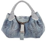 Fendi Embellished Squirrel Denim Spy Bag